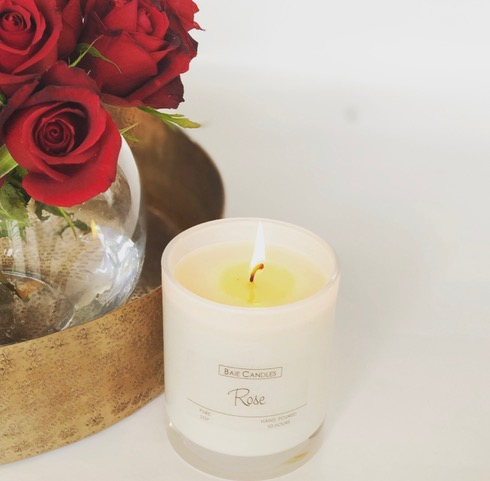 Baie Candles Red Rose