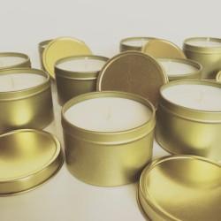Baie Candles Gold tin range