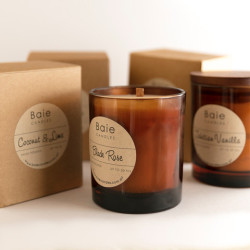 Baie Candles Amber range