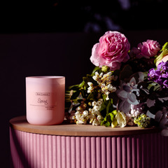 ie Candles Spring candle pink